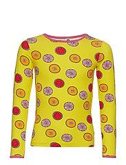 T-shirt LS. Fruits - YELLOW