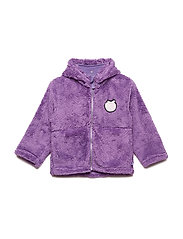 Fleece hood+zipper apple - PURPLE HEART