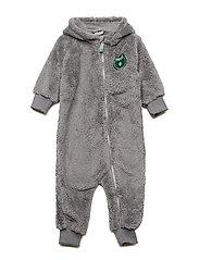 Baby heavy fleece Suit. Apple - APPLE GREEN