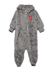 Baby heavy fleece Suit. Apple - APPLE RED