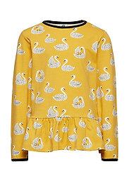 T-shirt LS. skirt. Swan - OCHRE