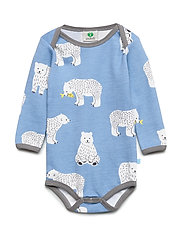 Body LS WoolMix. Bear - WINTER BLUE