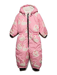 Småfolk Baby Wintersuit. Swan - WINTER PINK