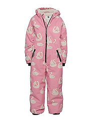 Småfolk Snowsuit, 1 zipper. Swan - WINTER PINK