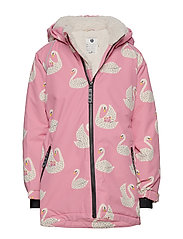 Småfolk Winter Jacket. Girl. Swan - WINTER PINK