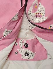 Winter Jacket. Girl. Swan