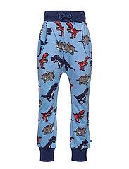 Sweat bukser med dinosaurus - WINTER BLUE