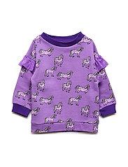 Sweatshirt med heste - PURPLE HEART