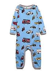 Småfolk Body Suit, Cars - WINTER BLUE