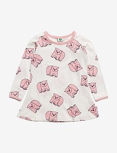 Dress LS. Polar bear - sukienki - silver pink
