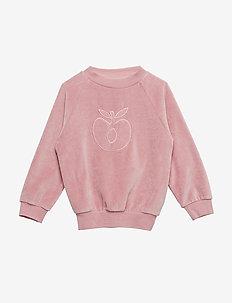 Sweatshirt. Velvet. Apple - BLUSH