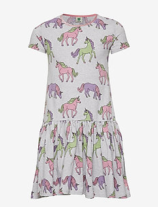 Dress SS. Unicorn - LT. GREY MIX