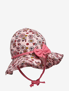 Sun hat. Flowers - SILVER PINK