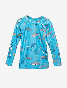 Swim T-shirt, LS. Sea world - BLUE ATOLL