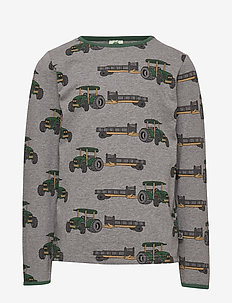 T-shirt LS. Tractor - M. GREY MIX