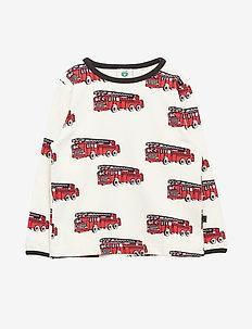 T-shirt LS. Fire truck - KALK