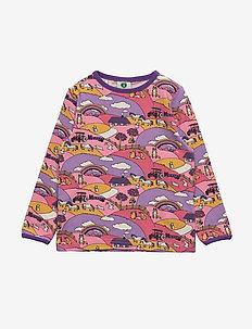 T-shirt LS. Landscape - SEA PINK