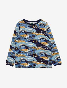 T-shirt LS. Landscape - WINTER BLUE