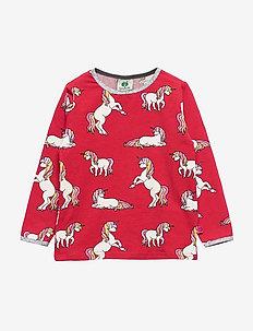 T-shirt LS. Unicorn - lange mouwen - dark red