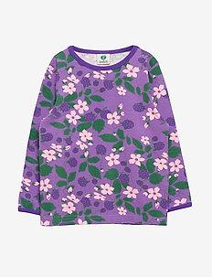 T-shirt LS. Flowers - PURPLE HEART