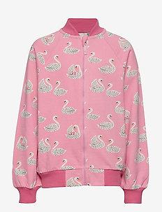 Sweatshirt. Zipper. Swan - SEA PINK
