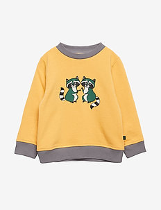 Sweatshirt. Raccon - sweatshirts - ochre