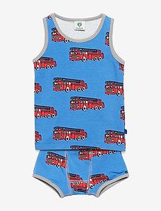 Underwear Boy. Fire truck - BLUE LOLITE