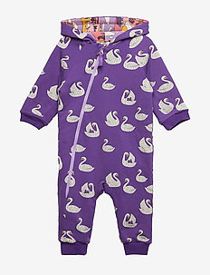 Padded Suit. turnable. Swan/Landscape - IMPERIAL PURPLE