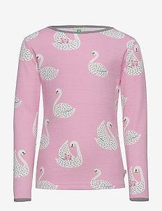 T-shirt LS.Woolmix. Swan. - WINTER PINK