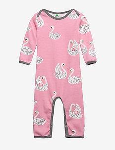 Body Suit LS WoolMix. Swan - WINTER PINK