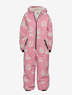 Snowsuit, 1 zipper. Swan - snowsuit - winter pink
