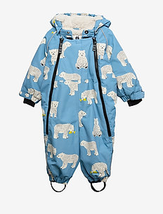 Snowsuit, 2 zipper. Bear - WINTER BLUE