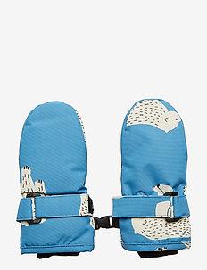 Mittens. Bear - gloves - winter blue