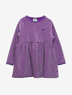 Dress LS. Glitter. Solid - PURPLE HEART
