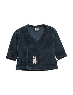 Velvet cardigan for baby - MAJOLICA
