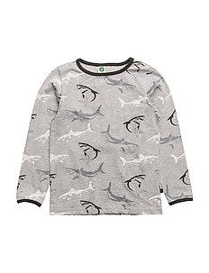T-shirt LS. shark - GREY MIX