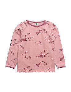 T-shirt LS. Horses - BRIDAL ROSE