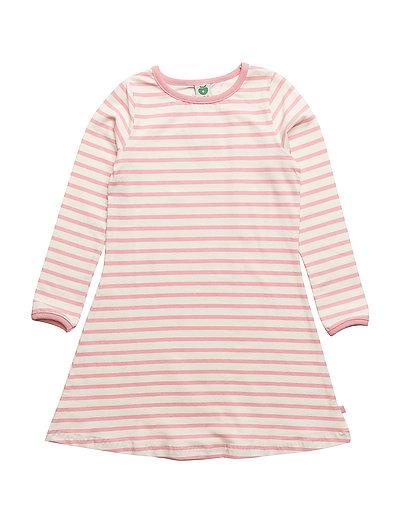 Dress LS. Stripes - BRIDAL ROSE