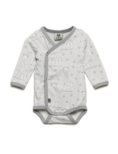 Newborn Body LS, Organic cotton Sophie La girafe - DAWN BLUE