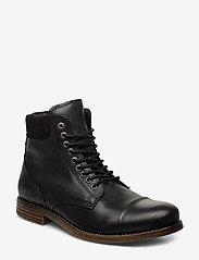 Sneaky Steve - Doverlake Leather Sh - buty zimowe - black - 0