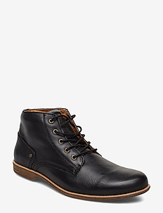 Crasher - laced boots - black
