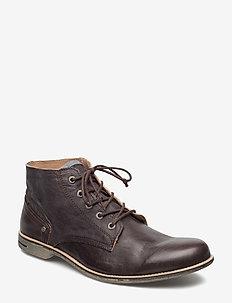 Crasher Leather Shoe - nauhalliset - brown