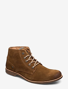 CRASHER - laced boots - tobaco