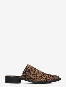 Intense W Suede Shoe - muiltjes & instappers - beige leopard