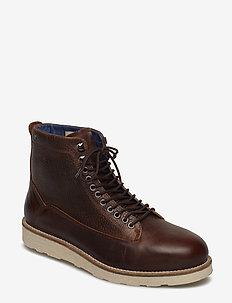 Quick Leather Shoe - COGNAC