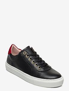 Sun W Leather Shoe - BLACK