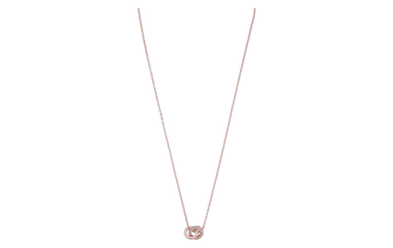 SNÖ of Sweden Connected pendant neck 42 rosé/clear - ROSé/CLEAR