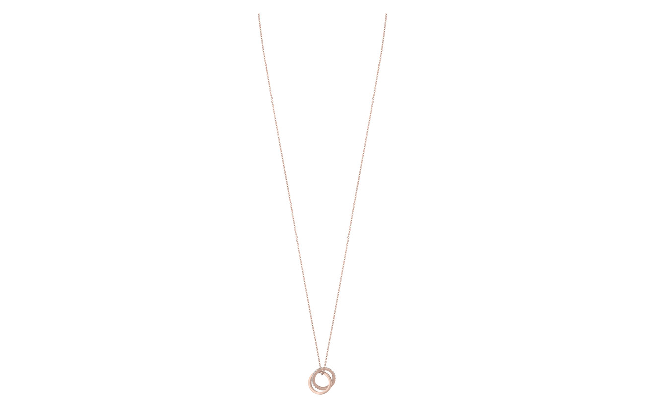 SNÖ of Sweden Connected pendant neck 80 rosé/clear - ROSé/CLEAR