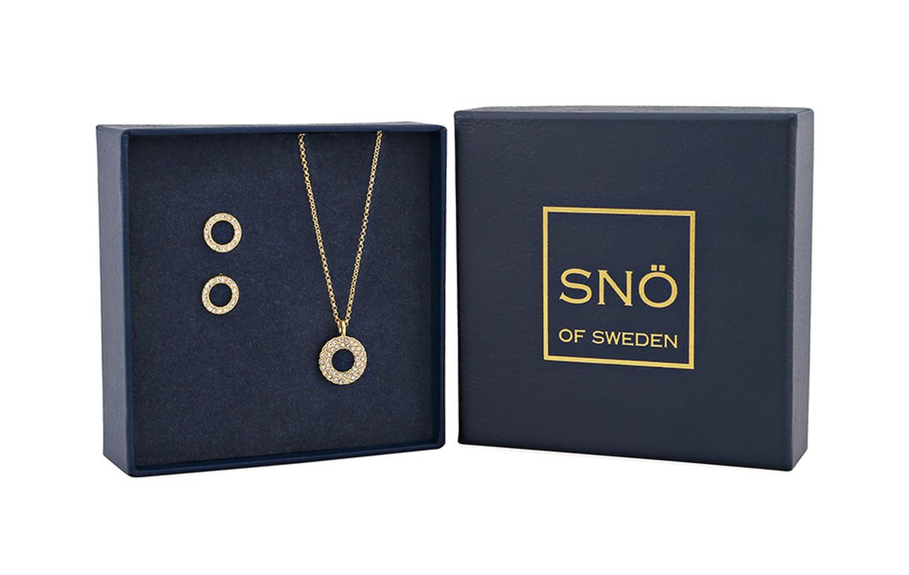 SNÖ of Sweden Belize round pendant set g clear