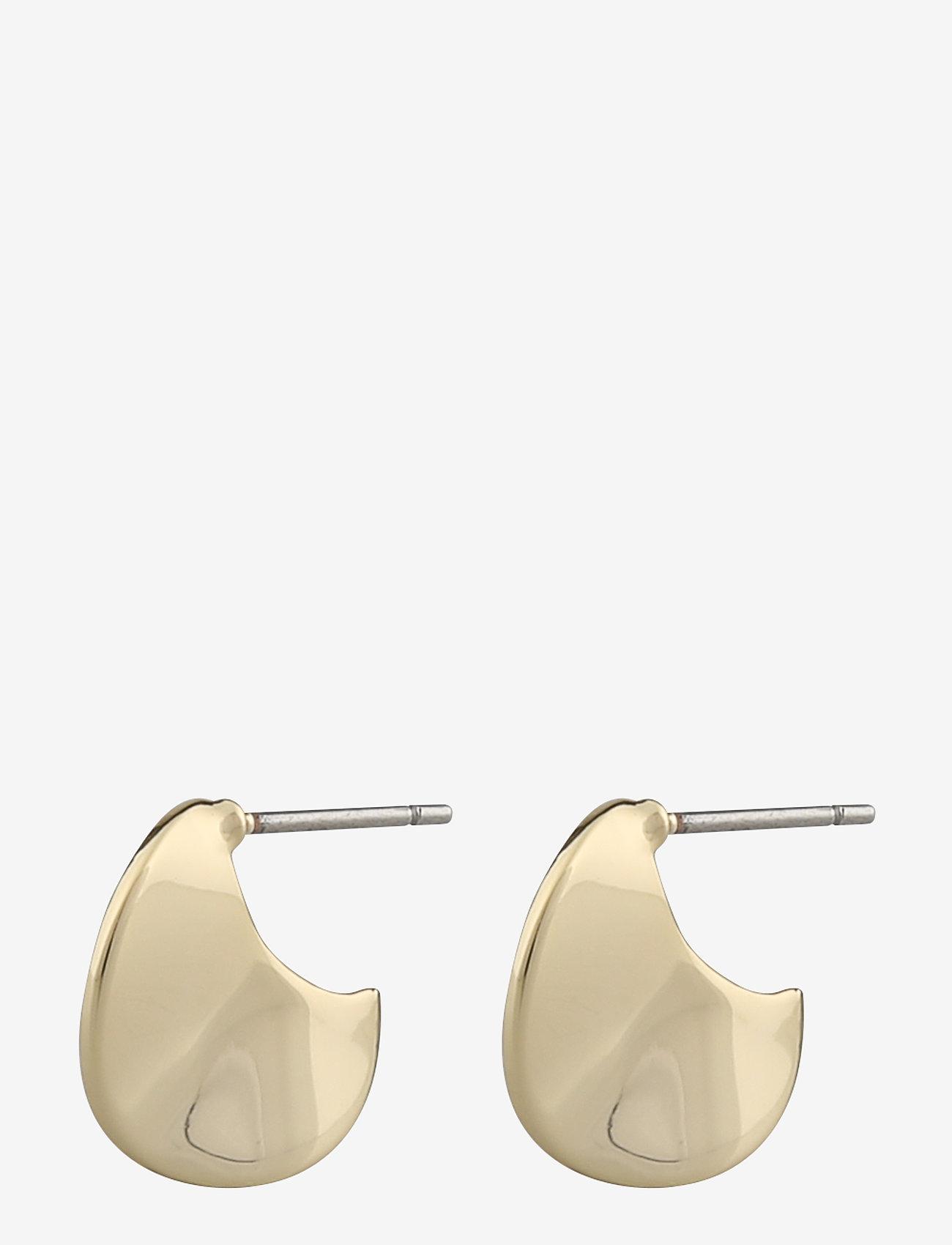 SNÖ of Sweden - Phoebe small round ear - stud oorbellen - plain g - 0